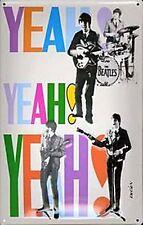 Beatles Yeah Yeah Yeah En Relieve En Acero Signo 300mm X 200mm (hl)