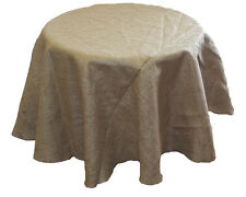 "Burlap Tablecloth - 60"" Round - 10oz Natural Burlap Fabric"