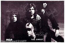 The Sweet AUTOGRAFI + + + + + + POP leggende 70er anni + +