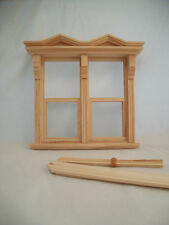 Victorian Side by Side double Window  dollhouse miniature  #5015 1pc 1/12 scale