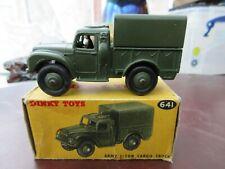 Dinky 641 Army 1 Ton Cargo Truck - very near mint, original, with original box
