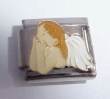 ANGEL Italian Charm - White Wings Faith Love 9mm fits Classic Starter Bracelets