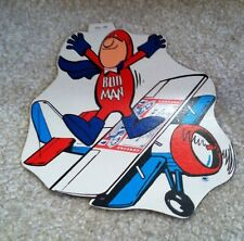 1970s Bud Man On Top Plane Budweiser Beer Advert Promo Sticker/Decal Appox 7x7""