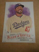 2016 Topps Allen & Ginter 5x7 2/49 #11 Howie Kendrick Dodgers