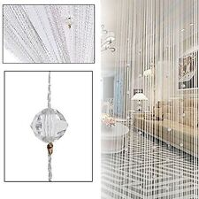String Door Curtain Beads Room Divider Tassel Crystal Fringe Beaded Window Panel