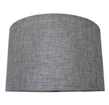 Modern Grey Drum Ceiling Light Shade Pendant NEW Textured Tweed Like Weave
