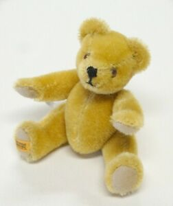 """Vtg MERRYTHOUGHT TEDDY BEAR 6"""" Jointed Mohair Made in England"""