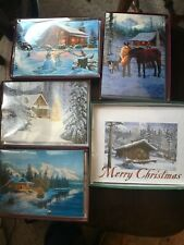 LOT (38) ASST LEANIN TREE GREETING CARDS/Christmas Horse Cabin Western