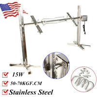 Electric 15W Stainless Steel BBQ Rotisserie Spit Pig Chicken Grill Roaster 110V