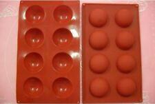 MOULE SILICONE SOUPLE 8 PETITS FOURS / DEMI SPHERE 27 X 16 CM