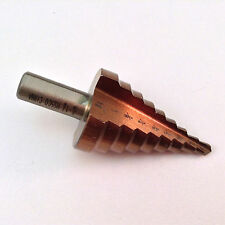 "Step Drill Bit UNIBIT 3/16""- 1-1/8"" 13 Hole Sizes 3/8"" Shank"