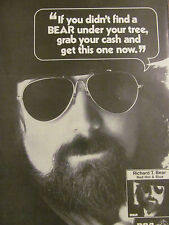 Richard T. Bear, Red Hot and Blue, Full Page Vintage Promotional Ad