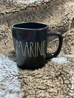 Rae Dunn New Release MARINE Coffee Mug Black Artisan Collection By Magenta NEW