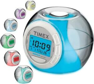 Timex 7 Color Changing Alarm Clock (INDIGLO NIGHT LIGHT) w/Soothing Sounds *NEW*