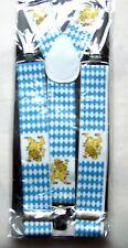 Hosenträger Bayern mit Wappen Y-Form 105cm Weißwurst Bier Lederhose Suspenders
