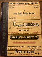 Vintage 1958 Long Beach City Phone Directory History Book Advertising Guide