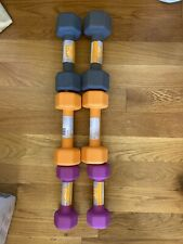 NEW CAP Neoprene Dumbbell Weights Set of 10 lb, 8 lb & 5 lb Pairs (46 LBS TOTAL)