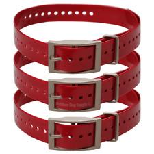 """One Dozen Red Garmin 3/4"""" Basic Collar Straps for the Mini T5 or TT15"""