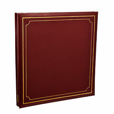 Extra-Large Red 32x26 cm Self Adhesive Photo Album 24/Sheets 48/Sides AL-9177