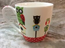 Large Coffee Mug. Owl On Bird House, Red.16 Ounces. Nature's Home. Cute. New.