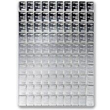 SILVER BULLION BAR- 100 GRAM VALCAMBI-DIVISIBLE INTO 100 1 GM BARS-FRACTIONAL