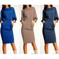 Elegant Women Office Formal Business Work Party Sheath Tunic Pencil Dress _7NIU