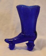 COBALT BLUE GLASS ROLLER SKATE VTG Decorative Shoe ~ skating toothpick vase