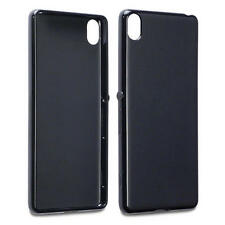 Thin Rubber Jelly Cover Case for Sony Xperia XA - Matte Black