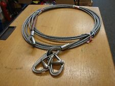 8mm STEEL WIRE ROPE strop lifting assembly 6X19 CABLE 160kgs 9.2m