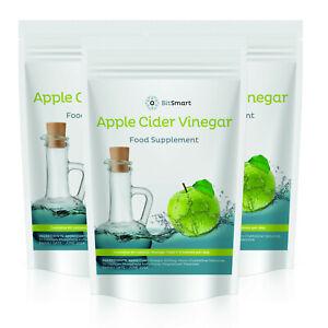 Apple Cider Vinegar Tablets 500mg ACV UK Made Quality Mother Capsules - Detox