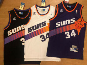Charles Barkley Phoenix Suns #34 Throwback Black/White/Purple Men's Jersey