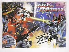 1984 Hasbro Transformers Sales Brochure Order Form Powerdasher, Omnibots Warrior