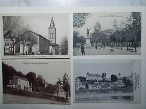 Lot 4 Cartes Postales CPA FRANCE diverses Cf description (1549A)