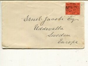 Hong Kong 10c on cover to Sweden 1899