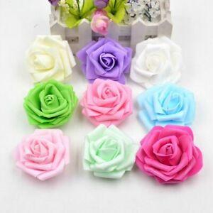 50 Pcs Foam Rose Artificial Flowers Wedding Party Bridal Bouquet Home Decor