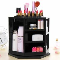 Fashion 360° Rotating Makeup Organizer Case Cosmetic Brush Storage Holder Box BP
