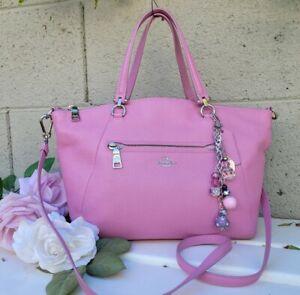 Coach 34340 marshmallow pink leather prairie crossbody satchel purse handbag