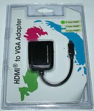 Maplin Micro HDMI Male to Female VGA Adapter -  N02NG