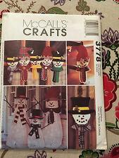 McCall's Crafts Pattern 3778 Snowman Greeters, Ornaments, Wall/Door Hanging