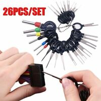 26Pcs Car Wire Terminal Removal Tool  Electrical Wiring Crimp Connector Pin Set