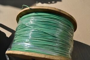 Mil-Spec Wire, M22759/11-14-5 TEFLON COATED Stranded Silver Plated 100 ft GREEN