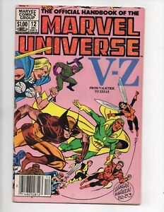 Marvel Comics The Official Handbook of the Marvel Universe Volume 1 Book #12 VF