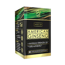 ACTIF American Ginseng 1000mg - 10 year old root, 100% Authentic, Made in USA