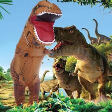 T-REX Inflatable Adult Dinosaur Costume Jurassic World Park Blowup Dress Suit AU