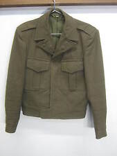 vtg Post WWII Ike US Army Coat Jacket 1949 O.D. wool button front 34R 1946 Pttrn