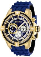 Invicta 29078 Bolt Men's 49mm Chronograph Gold-Tone Blue Dial Watch