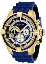 Invicta 29078 Bolt Men's 49mm Chronograph Gold-Tone Blue Dial Watch