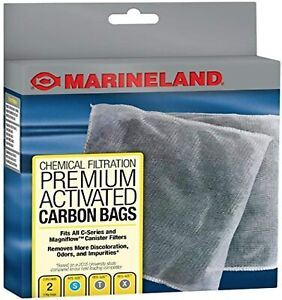 4 Pack MarineLand Premium Activated Carbon Bags,Chemical Filtration in Aquariums