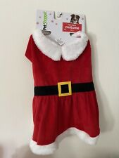 Cute Mrs Claus Christmas Suit Dog Costume Size M/L (Med/Lg) Red/White/Black NEW!