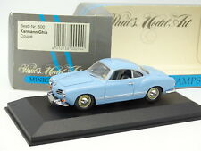 Minichamps 1/43 - VW Karmann Ghia Coupe Bleue